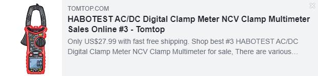 Alicate Amperímetro HABOTEST AC / DC Digital Alicate Multímetro NCV Preço: $ 27,99