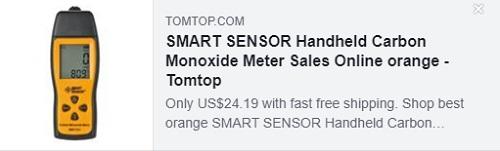 SMART SENSOR Handheld Carbon Monoxide Meter    Price: $24.19
