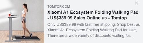 小米 A1 生态系统折叠式步行垫 Price: $389.99 美国仓库发货,免运费