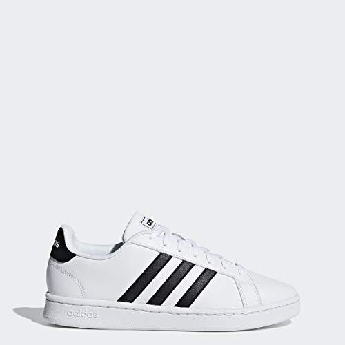 adidas Womens Grand Court, Black/White, 5.5 M US
