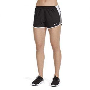 Nike Womens Dry 10K Running Shorts, Black/White/Dark Grey/Wolf Grey, Small