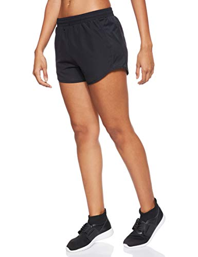 Under Armour Womens Fly By Running Shorts, Black (002)/Reflective, Small