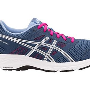 ASICS Womens Gel-Contend 5 Running Shoes, 7.5M, Grand Shark/White
