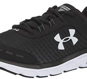 Under Armour Mens Charged Assert 8 Running Shoe, Black (001)/White, 11.5