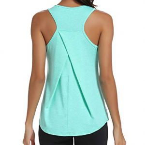 HLXFHB Workout Tank Tops for Women Gym Exercise Athletic Yoga Tops Racerback Sports Shirts Green
