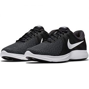 Nike Mens Revolution 4 Running Shoe, Black/White-Anthracite, 13 Regular US