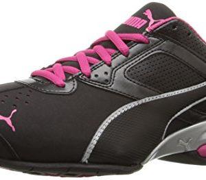 PUMA Womens Tazon 6 WNs fm Cross-Trainer Shoe, Black Silver/Beetroot Purple, 8.5 M US