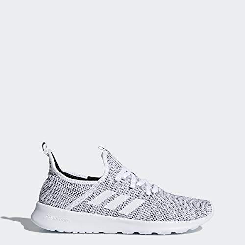 adidas Performance Womens Cloudfoam Pure Running Shoe, White/White/Black, 8.5 M US